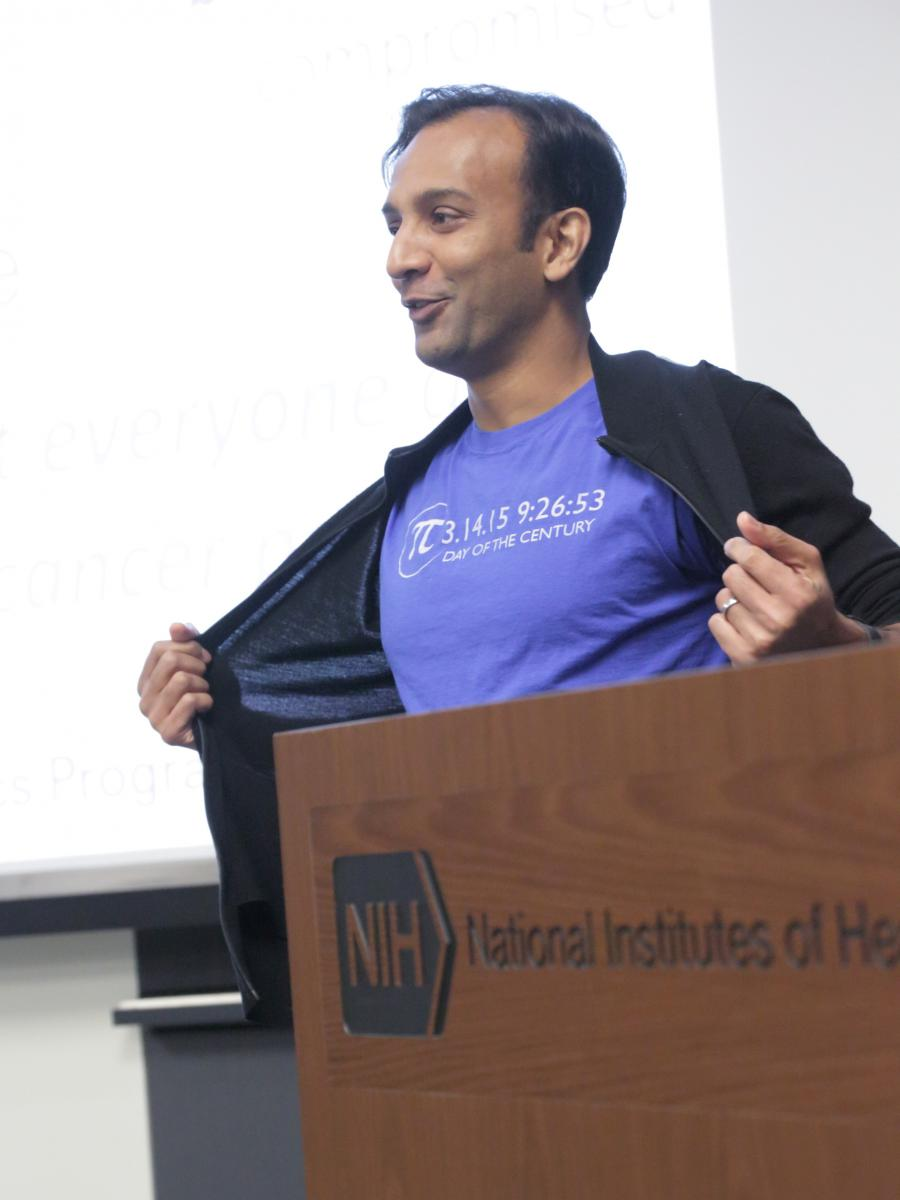 Dr. DJ Patil, Chief Data Scientist of the United States, shows off his Pi Day spirit.