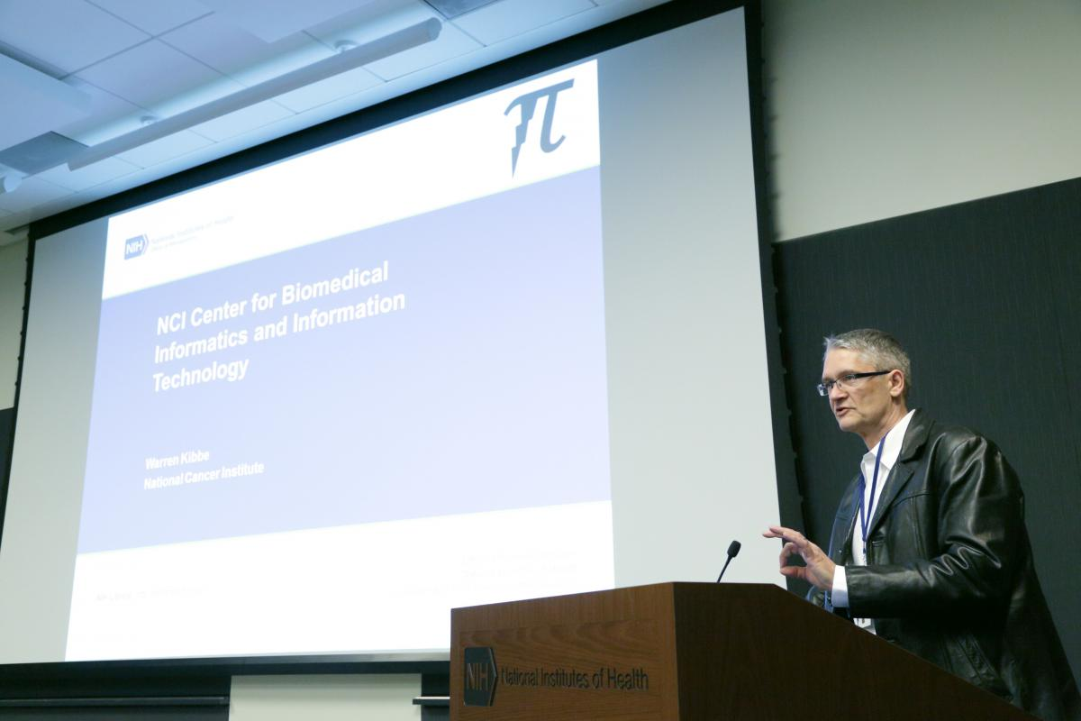 Dr. Warren Kibbe, director of NCI's Center for Biomedical Informatics and Information Technology, gives a PiCo talk.